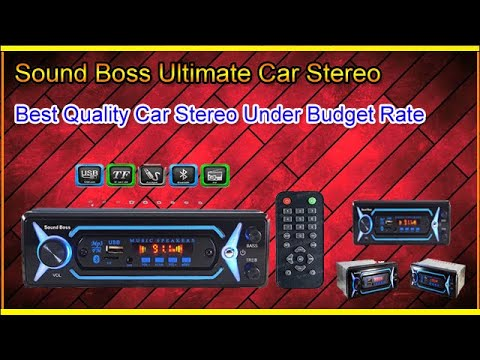 """The Sound Boss best quality Car Stereo Under Budget Rate""""""""""""Unboxing.."""