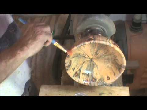 Woodturning Norfolk Island Pine End Grain Bowl by Al Furtado