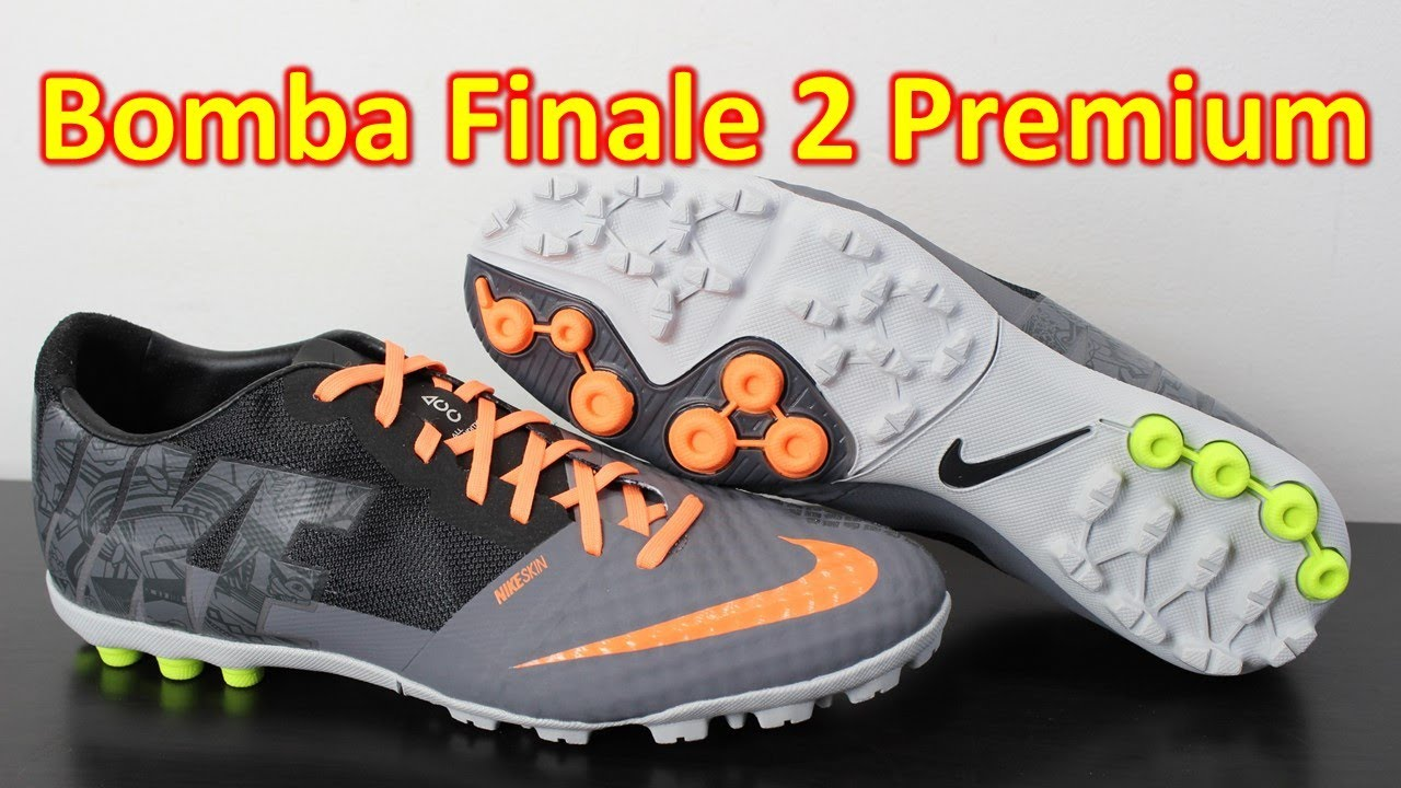 best cheap 7959b a6fd3 Nike FC247 Bomba Finale 2 Premium Cool Grey Atomic Orange - Unboxing + On  Feet