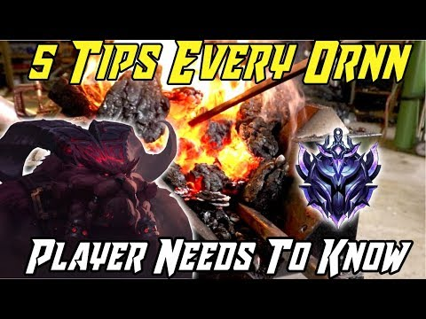 5 TIPS EVERY ORNN NEEDS TO KNOW! LEAGUE OF LEGENDS ORNN GUIDE SEASON 9 2019