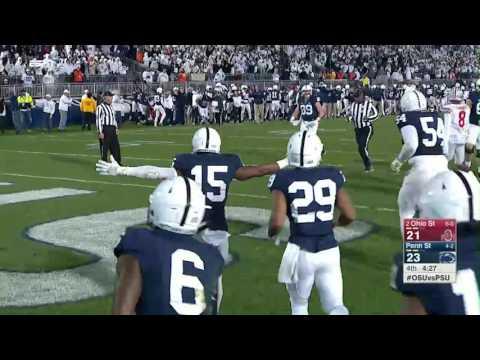 Penn State Blocks Field Goal & Grant Haley Scores a Touchdown vs. Ohio State | Big Ten Football
