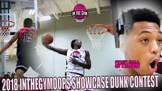 2018 INTHEGYMHOOPS SHOWCASE DUNK CONTEST!!!!! DID THE CROWD GET IT RIGHT?