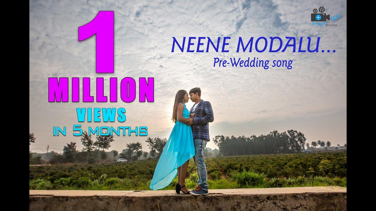 Neene Modalu Neene Kone   Kiss   Kannada movie   Shivakumar and mala   Cinematic pre-wedding song.