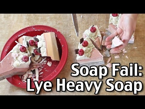 Soap Fail   Lye Heavy Soap