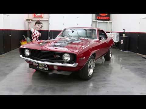 69 Chev Camaro Z28 Dk Red 69-4365P