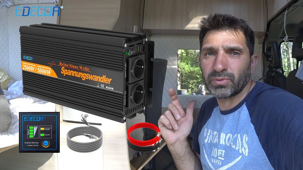 Инвертор на все случаи жизни Чистая синусоида внешний монитор с управлением EDECOA 12V 220V 1500W.