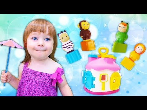 Learn Colors And Shapes With Educational Toys: A Toddler Learning Video. Toy Learning With Playhouse
