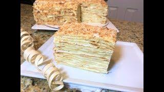 Самый Вкусный НАПОЛЕОН.  Торт  можно заморозить впрок. Napoleon cake.