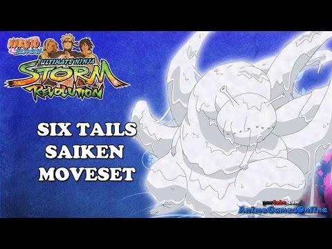 Six Tails Saiken COMPLETE Moveset - Naruto Shippuden Ultimate Ninja Storm Revolution