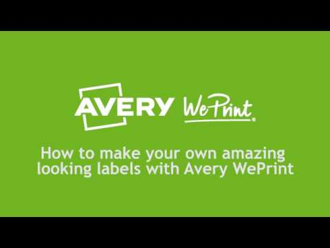 create your own jar labels with avery weprint youtube