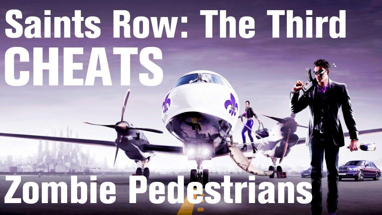 Saints Row 3 Cheats Zombie Pedestrians YouTube