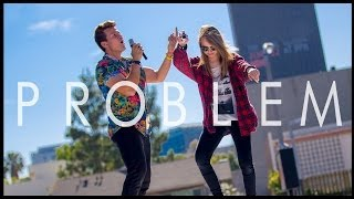 Repeat youtube video Problem - Ariana Grande (Tyler Ward Acoustic Cover) - Iggy Azalea - One Less Problem Music Video