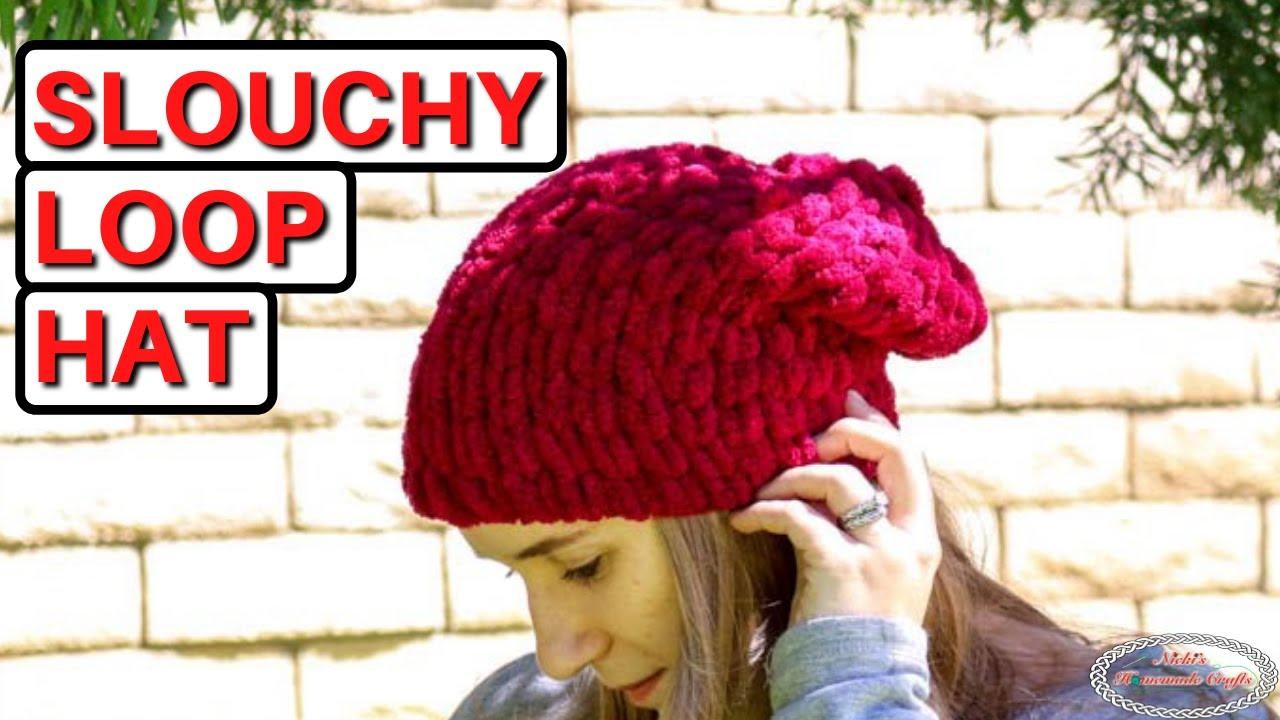 77ec05c02a8 Easy Slouchy Loop Hat - Made with Loop Yarn - YouTube
