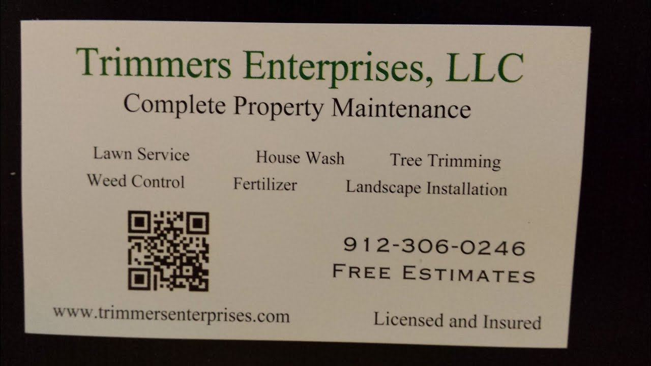 video response business card marketing my lawn care small business - Lawn Service Business Cards