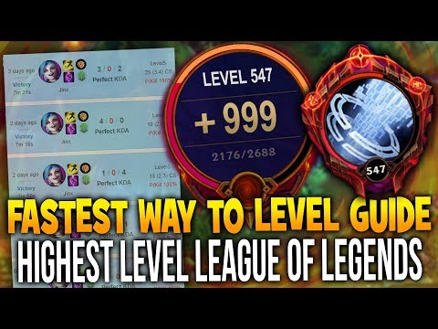 *SECRET* FASTEST WAY TO LEVEL UP 2018 (League of Legends Guide)