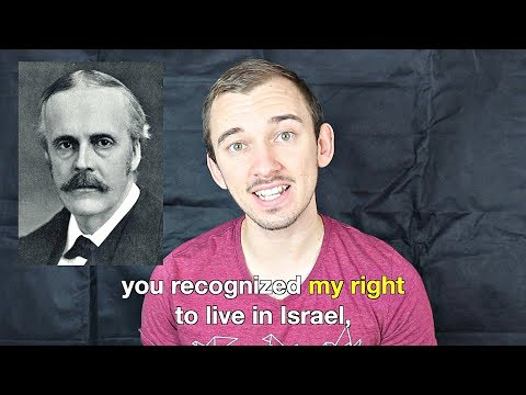 A Message To Lord Balfour From The Jewish Nation