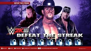 "WWE 2K16 - The Undertakers ""Defeat The Streak"" DLC Game Mode (Notion)"