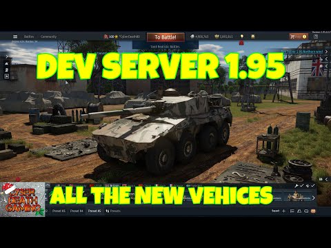 War Thunder: Dev Server 1.95 Northern Wind - All The New Vehices