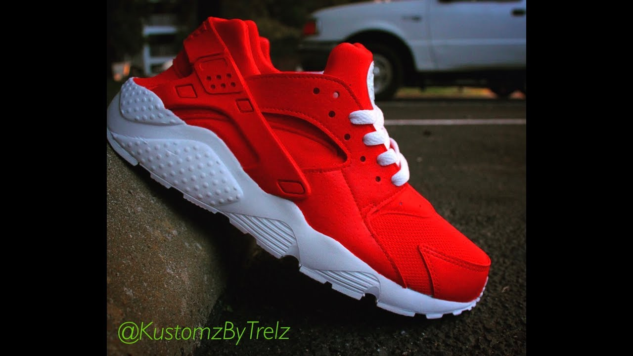 286ae2a27d1 Fire Red Huaraches (Time-Lapse) Tutorial - YouTube