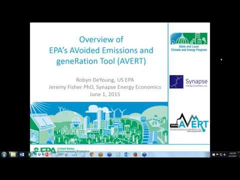 Using AVERT to Estimate the Emissions Benefits of Clean Energy Policies and Programs (6.1.2015)