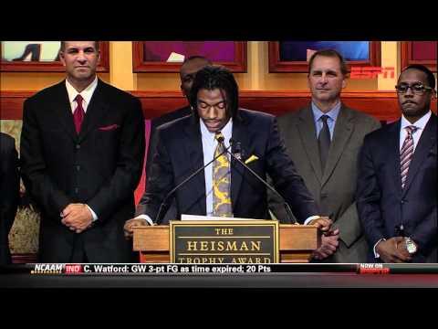 2011 Official Heisman Trophy Presentation - Robert Griffin III of Baylor