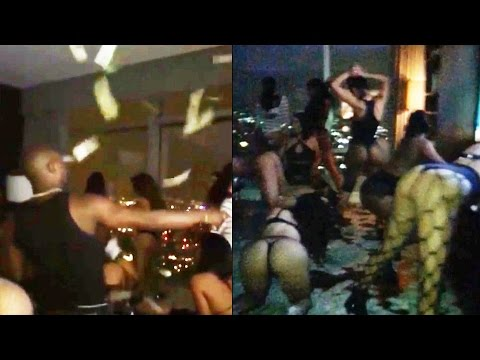 Floyd Mayweather Makes It Rain On 15 Strippers In A Hotel Room