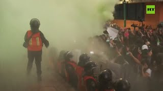 Angry protesters vandalize Mexico City in protest of young woman's gruesome killing