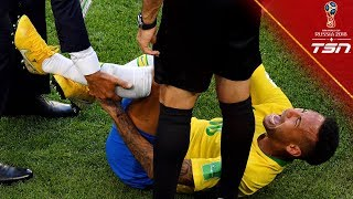 Neymar gets STEPPED on, rolls around on ground in AGONY