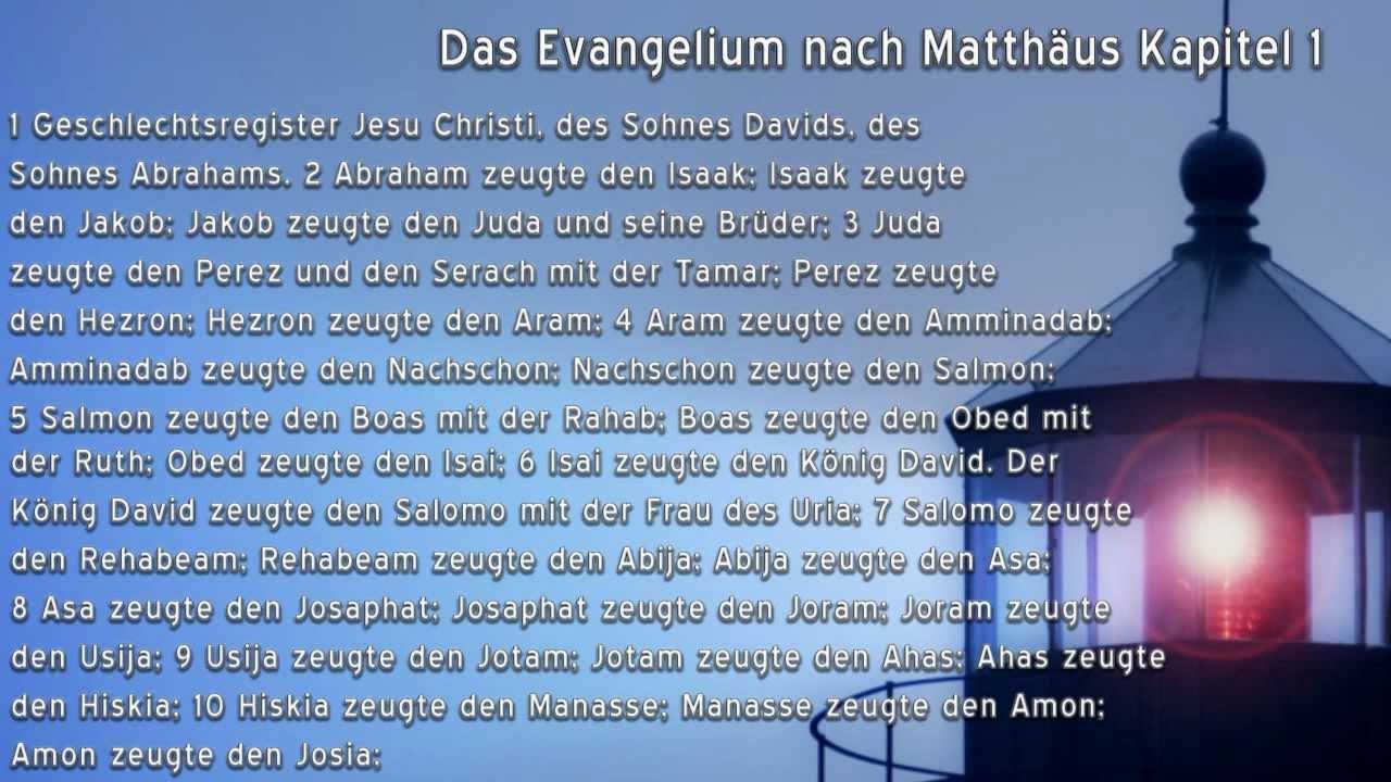 Das 1 Evangelium Matthäus Stream
