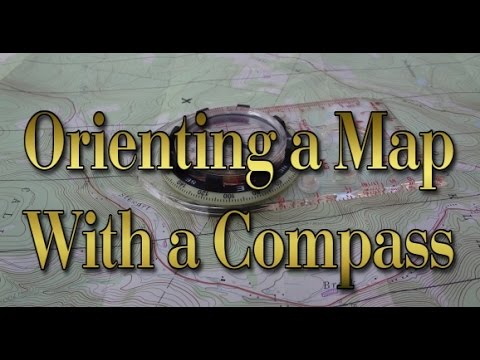 Orienting a Map with a Compass