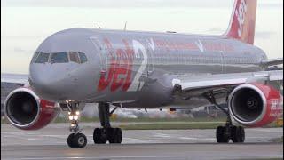 11 Close Up Takeoffs & Landings: 777, A380, 747, A350, 787, 777, A330, 767, 757 Manchester Airport