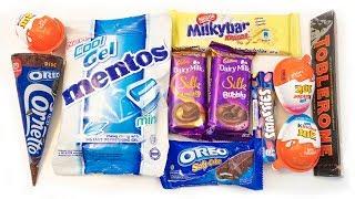Cornetto oreo and some interesting candies, chocolates