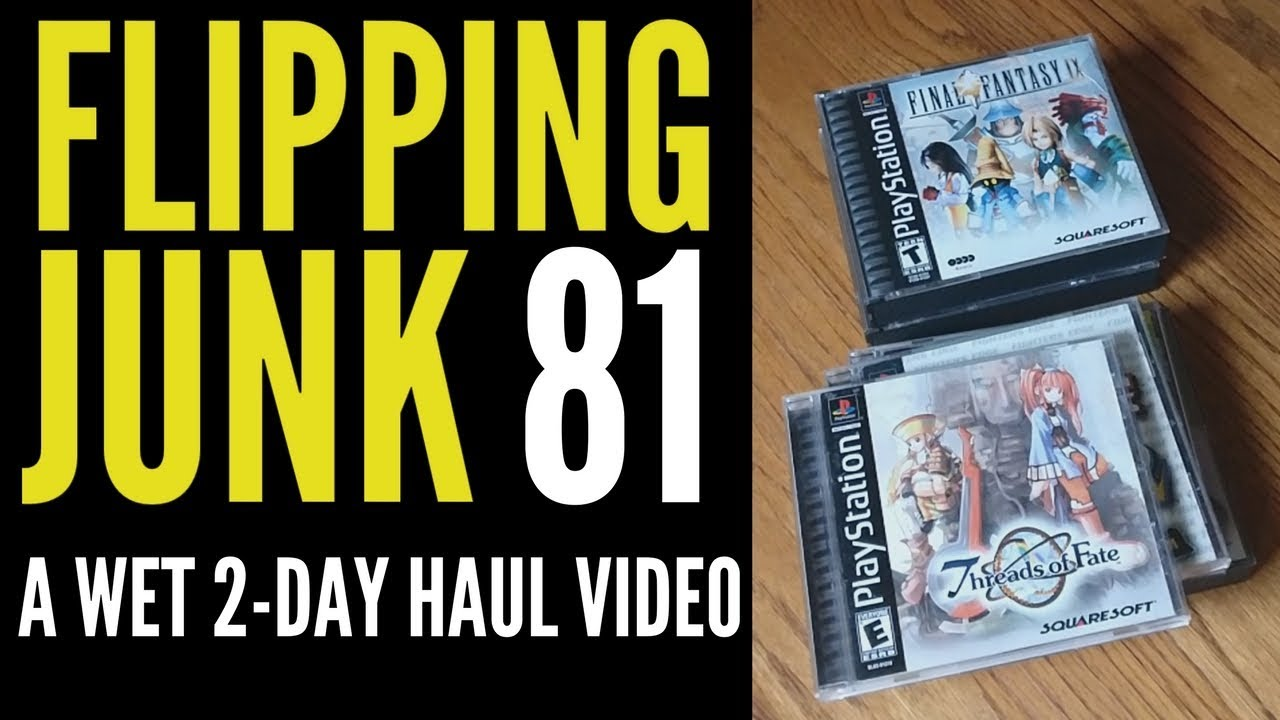 Flipping Junk [81] Garage Sale Video Games and Thrift Store Finds ...