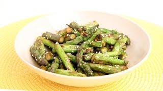 Garlic Sesame Stir Fried Asparagus Recipe - Laura Vitale - Laura In The Kitchen Episode 883