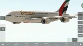 Airbus A380 Emirates Full Flight part (2/2) - Real Flight Simulator Rortos 2019