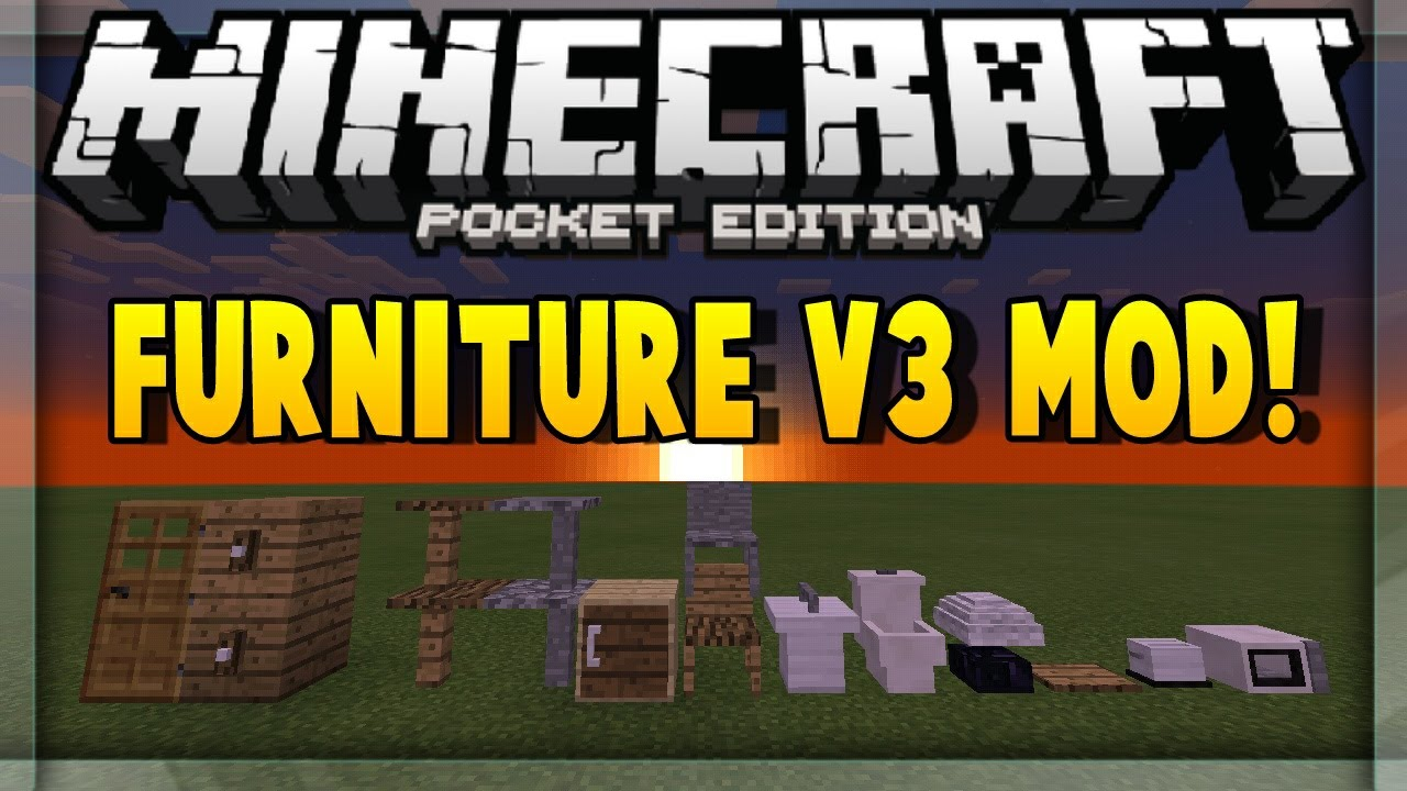 Minecraft Pe Furniture furniture mod para minecraft pe 0.14.0 | mods para minecraft pe