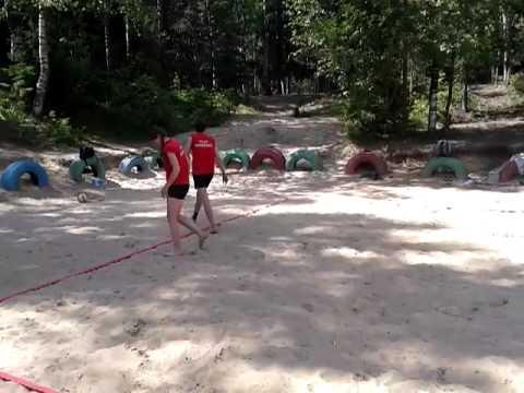 День спортивных игр в молодежном экологическом лагере Чистый город
