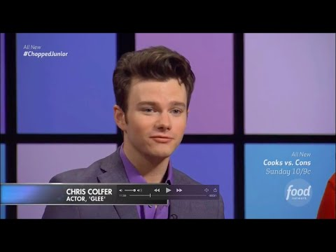 Chris Colfer is a guest judge on Chopped Jr - August 2, 2016