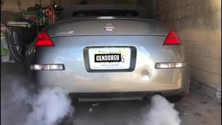 spec d 350z exhaust before and after video sound clip