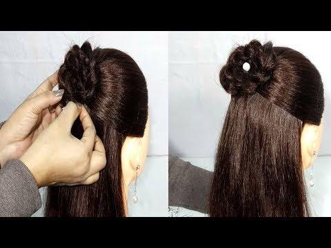 Easy Weddingparty Hairstyle With Banana Clip Hair Style Girl