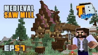 MEDIEVAL SAW MILL and a completed mountain top??   Truly Bedrock Season 2 [57] Minecraft Bedrock SMP