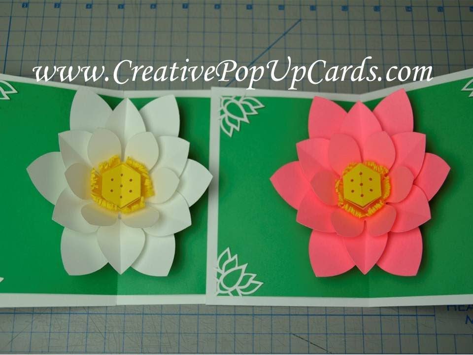 Mothers Day Lotus Flower Pop Up Card Tutorial Creative Pop Up Cards