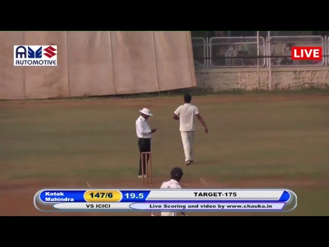 Automotive Cricket league T20 - Kotak Mahindra vs. ICICI