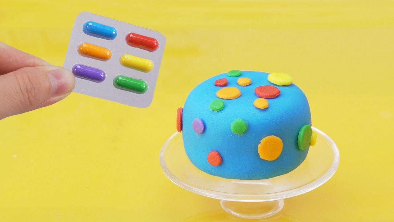 DIY Miniature Rainbow Fondant Cake Decorating | Best Miniature Cake of June | Tiny Cakes