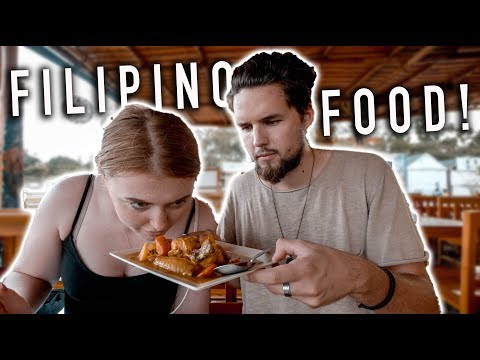 British Couple Try FILIPINO FOOD for the First Time!