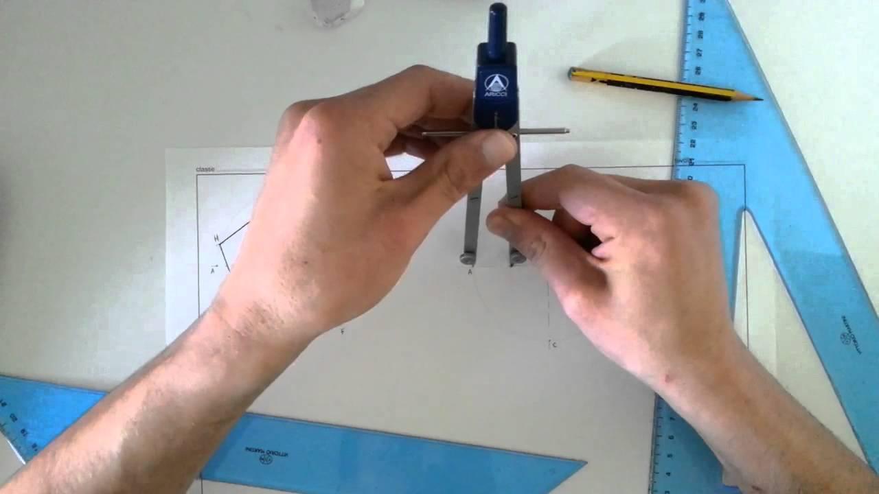 03 costruzione di un pentagono dato il lato e inscritto for Costruzione ottagono dato il lato