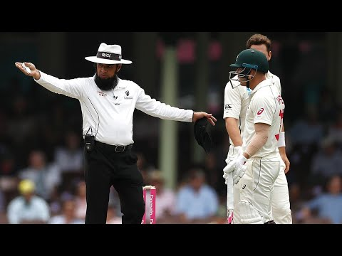 Australia Penalised Five Runs For Running On The Pitch   Domain Test Series 2019-20
