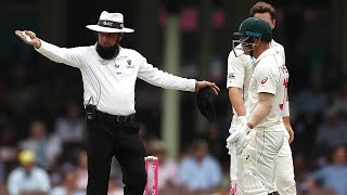 Australia penalised five runs for running on the pitch | Domain Test Series 2019-20