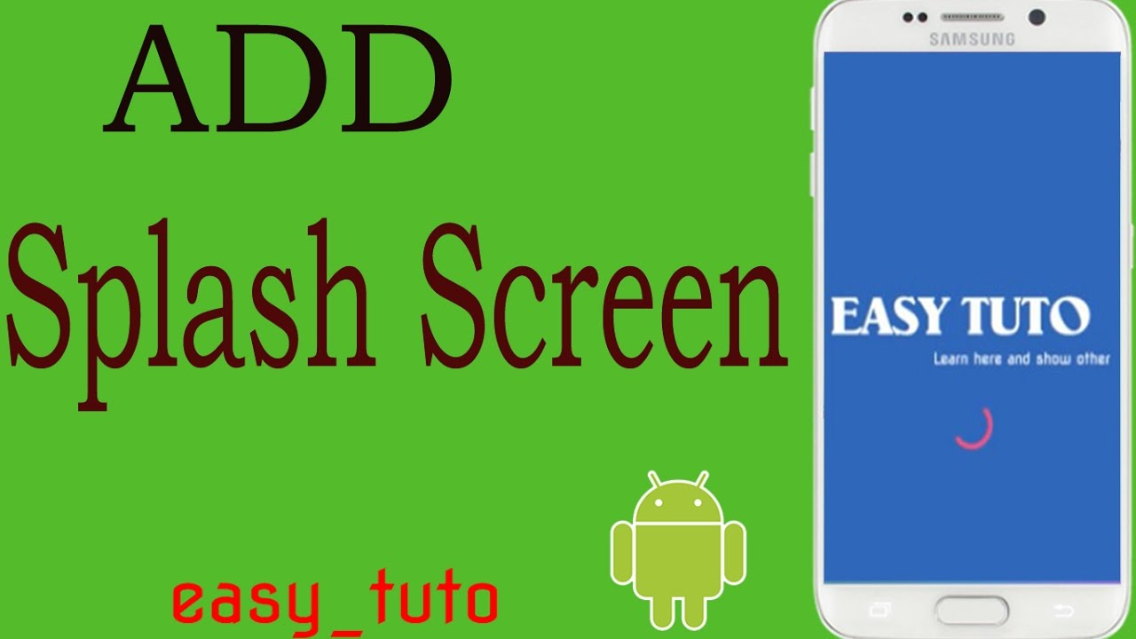 Add Splash Screen In App | Android Studio Tutorial (Beginners) HD | All  About Android