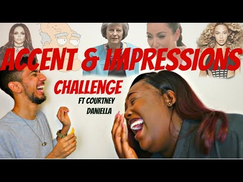 Cambridge University Students Do The ACCENT & IMPRESSIONS CHALLENGE! FT. Courtney Daniella